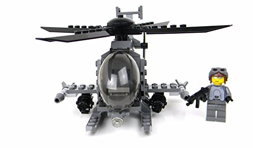 AH-6 Little Bird with 1 Minifigure Army Helicopter made with real