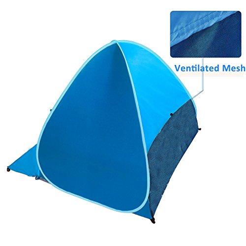 Pop Up Sun Shades Outdoor : Elover automatic pop up beach tent outdoor sun shelter