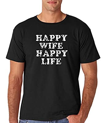 AW Fashion's Happy Wife, Happy Life - Funny Marriage Premium Men's T-Shirt