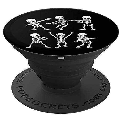 Dancing Skeletons Dance Challenge Funny Halloween Gift PopSockets Grip and Stand for Phones and Tablets