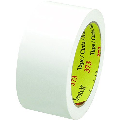 Scotch T901373W6PK White #373 Carton Sealing Tape, 2