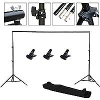 Abeststudio Pro Portable Heavy-Duty Backdrop Support System Kit 2m * 3m(6.6ft * 9.8ft) - Tripod is Adjustable + Carry Bag- Photo Studio Backgrounds Kit