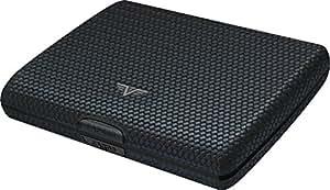 TRU VIRTU Papers & Cards Wallet | Rfid Safe Leather Line (Diagonal Carbon Black)