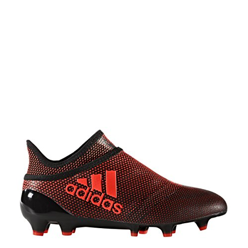 Fg Speed Boot - adidas Kid's X 17+ Purespeed FG Soccer Cleats, 4.0 D(M) US, Core Black/Solar Red/Solar Orange
