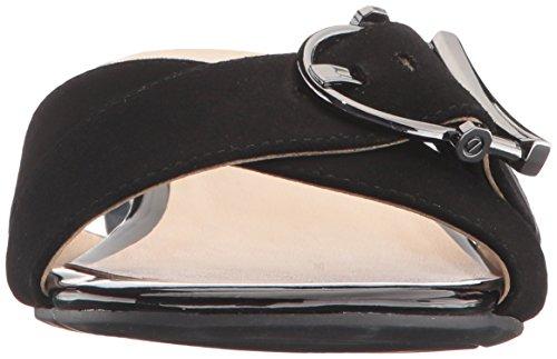 Sandalo Con Zeppa In Pelle Scamosciata Tigrata Delle Nove Donne Dellovest, Nero, 8 M Us