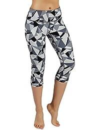 5e969f9aaf High Waist Out Pocket Printed Yoga Pants Tummy Control Workout Running 4  Way Stretch Yoga Leggings