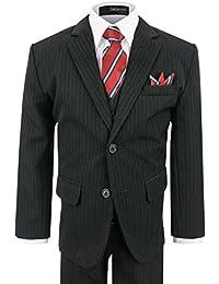Boy's Formal 2 Buttons Pinstripe Dresswear Suit Set