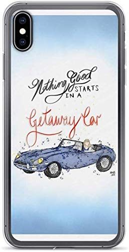 Phone case Compatible for iPhone X/XS Pure Clear Cases for Nothing Good Starts in a Getaway car | Taylor Swift | Lyric Illu