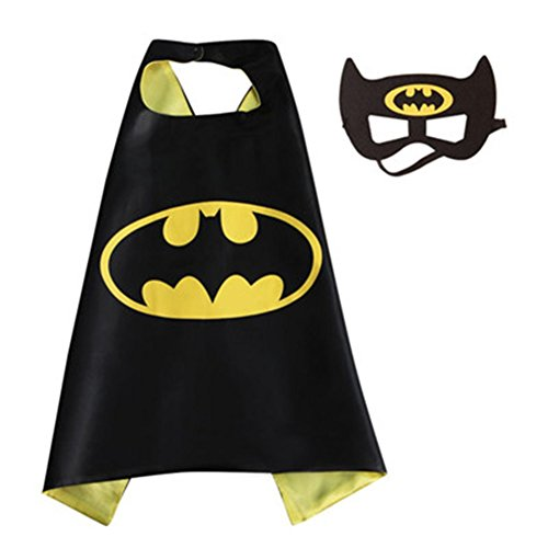 [DC Comics Adult Size - Batman Logo Cape and Mask with Gift Box by Superheroes] (Marvel Heroes Costumes For Adults)