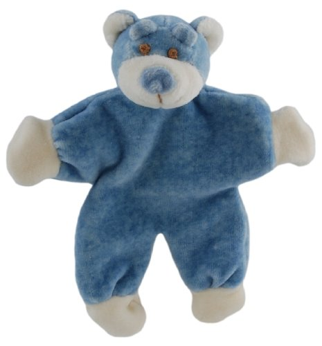 Simply Fido Wally 5-Inch Stuffless Blue Bear with Crinkle Paper Dog Toy, My Pet Supplies