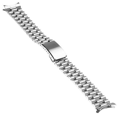 StrapsCo President Stainless Steel Replacement Watch Band Bracelet Strap 20mm (President Watch)
