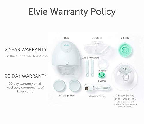 41MBnYETC8L - Elvie Pump Single Silent Wearable Breast Pump With App - Electric Hands-Free Portable Breast That Can Be Worn In-Bra