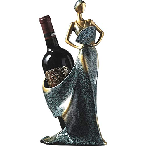 PLAFUETO Wine Rack Holder,Tall Drink Tabletop Single Wine Accessory Bottle Stand,Premium Resin Shaped Sturdy Sculpture…