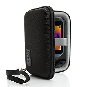 Hard Protective Thermal Imager Carrying Case by USA Gear - Works with FLIR C2 , C3 , Reveal , XR , PRO , Fastframe XR and More Thermal Imagers - Black