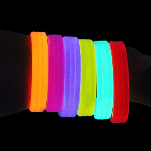 LOVELY BITON(TM) 6 Pcs Glowsticks Glow Stick Bracelets Mixed Colors for Christmas, Parties, Bath Tub Fun, Weddings, Bars & More