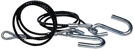 Tie Down 59541 Black 5000 lb Class 3 Safety Cable - Pair
