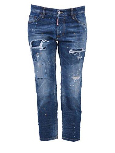 Blu Cotone S75la887s301444470 Donna Jeans Dsquared2 TfqIZn