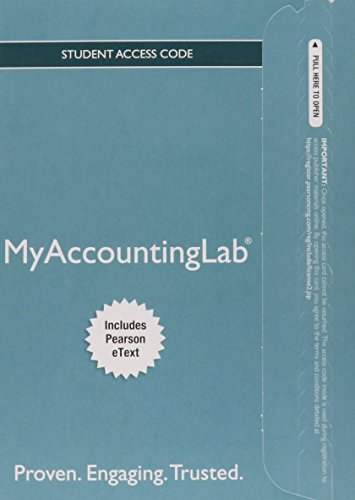 MyLab Accounting with Pearson eText -- Access Card -- for Horngren's Financial & Managerial Accounting (My AccountingLab)