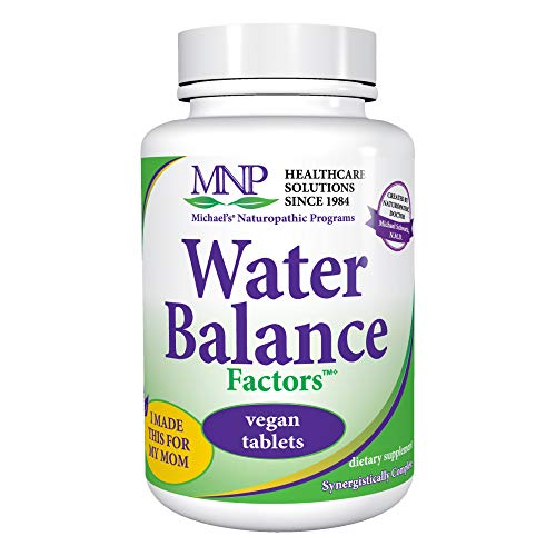 (Michael's Naturopathic Programs Water Balance Factors - 120 Vegan Tablets - Fluid Balance Support Supplement with Watermelon Seeds, Weight Management Aid - Kosher - 40 Servings)