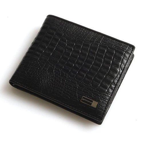 Violett-CROCO (black) Bifold Wallet Slim