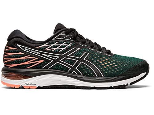 ASICS Women's Gel-Cumulus 21 Running Shoes, 9M, Black/Sun Coral