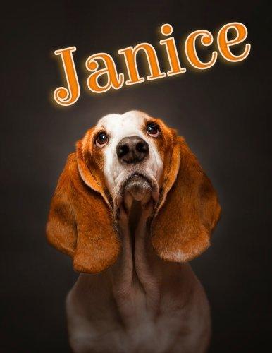 "Janice: Personalized Address Book, Large Print, 8 1/2"" x 11"" [Art, Black River] (Tapa Blanda)"