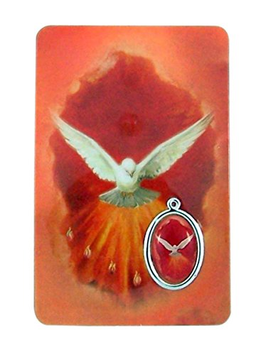 Religious Art Catholic Holy Prayer Cards with Medals (Confirmation - English)