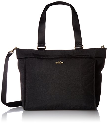 Tote New Shopper - Kipling New Shopper L Black Patent Combo Laptop Tote