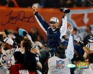 (Tony Dungy Signed Photo - 8x10 SB XLI Carryoff Hologram - Steiner Sports Certified - Autographed NFL Photos)