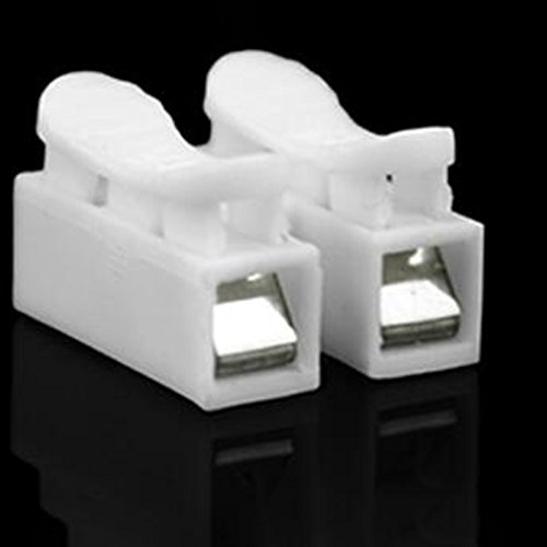 Sedeta 30PCS 2P Fil /à Ressort Connecteurs C/âble /électrique Bornier Clamp Connecteur Bande LED Fil de Connexion