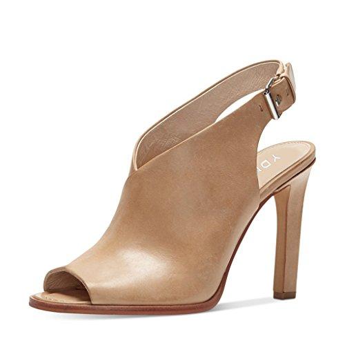 Ydn Donne Peep Toe Sandali Tacco Alto Cinturino Alla Caviglia Pompe A Spillo Scarpe A Spillo Con Fibbia Nude