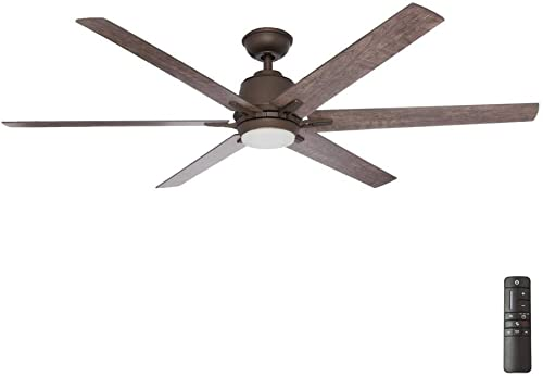 "Home Decorators Collection YG493B-EB Kensgrove 64"" LED Espresso Bronze Ceiling Fan"