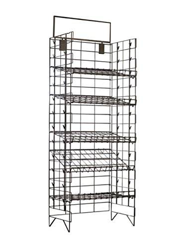 "5 SHELF CHIPS OR CANDY DISPLAY RACK, GREAT CONVENIENCE STORES DISPLAY, INCLUDED A 22"" WIDE X 7"" HIGH SIGN HOLDER. LIGHT DUTY WIRE, ADJUSTABLE SHELVES, SILVER POWDER COATED FINISH. 1 UNIT TO A CASE."