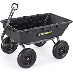 Gorilla Carts GOR10-16 Super Heavy Duty Poly Dump Cart, 1,500-lb. Capacity