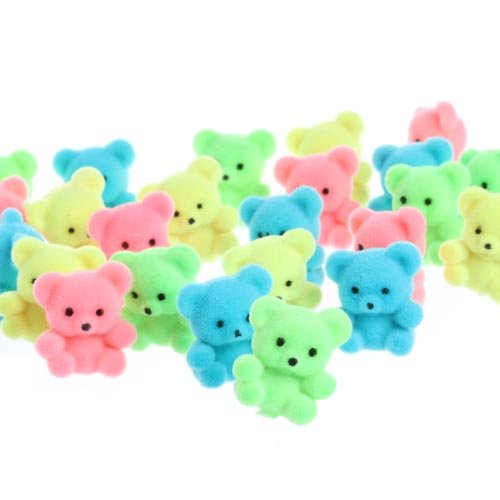 package-of-24-sitting-bright-spring-colored-flocked-miniature-bears-for-embellishing-crafting-and-de