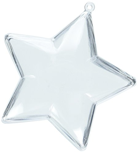 Darice Holiday Plastic Ornament Star-90mm (1 Pack), 1 -