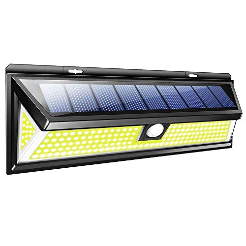 Price comparison product image Solar COB LED Light with PIR Motion Sensor,  JiiJian Solar Powered Lamp IP65 Waterproof Garden Decoration Street Pathway Patio Wall Light Auto On / Off Night Lighting