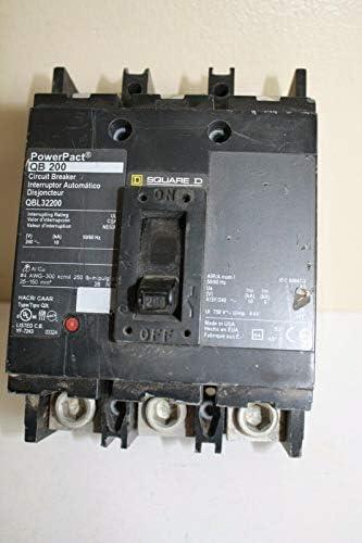1- QBL32200 Square D Circuit Breaker, 200 Amp, 3-Pole Schneider 200A 3P Powerpact QB200