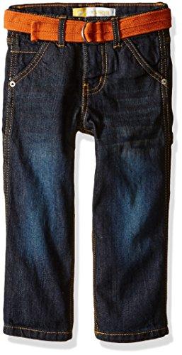 LEE Little Boys' Toddler Belted 5 Pocket Contractor Jeans, Thunder Wash, (Belted Five Pocket Jeans)