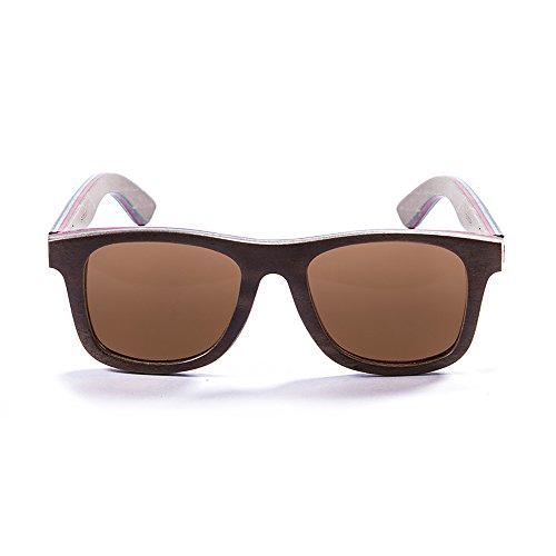 Marron Wood Soleil 3 Beach de Lunettes Monture Venice Marron 54001 Sunglasses en Bois Ocean Verres wBxqYvf56