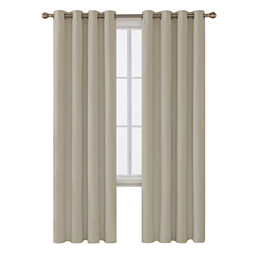 Deconovo Solid Thermal Insulated Grommet Blackout Curtain fo