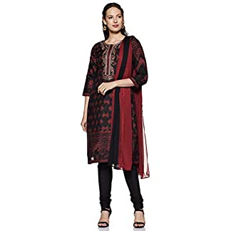BIBA Women's Straight Salwar Suit Set 41MBsn12h8L