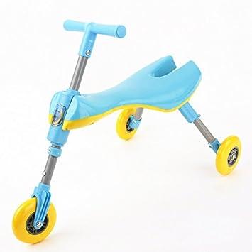 XWAN Euro American Patineta Scooter Carrito De Niño, Niño Pedales, Portable,Azul: Amazon.es: Deportes y aire libre