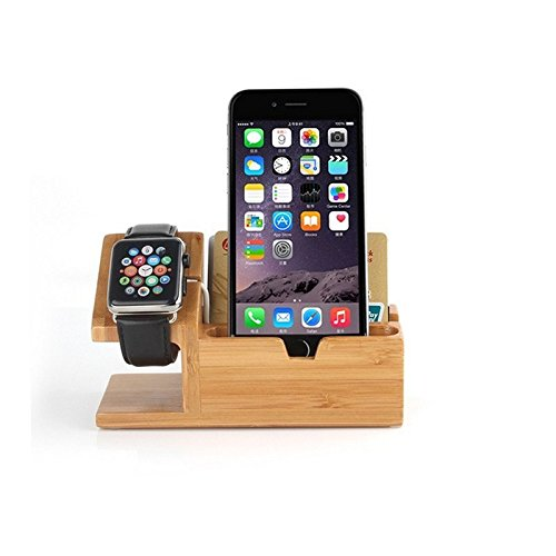Gorilla Gadgets Apple Watch Charging Stand Smartphone Charger Dock With 3 USB/Lightning Ports, Nature by Gorilla Gadgets