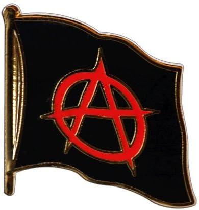 Pins pin/'s drapeau noir et rouge anarchiste libertaire