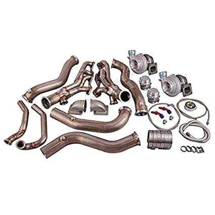 Amazon.com: Twin Turbo Header Manifold Downpipe Kit For 82-92 Camaro SBC Small Block: Automotive