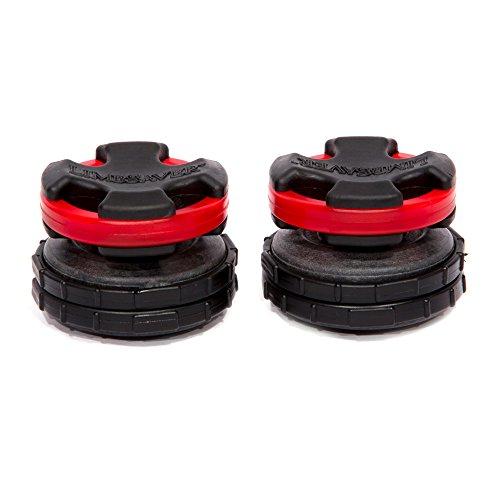 LimbSaver Broadband Dampener for Split Limb Compound Bows, Red, 2-Pack ()