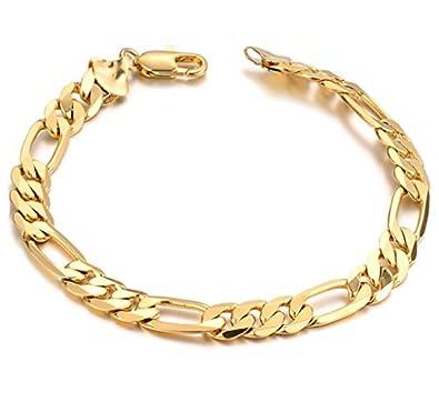 Schmuck gold  AMDXD Schmuck Gold Armband für Herren 18K Vergoldet mit Edelstahl ...