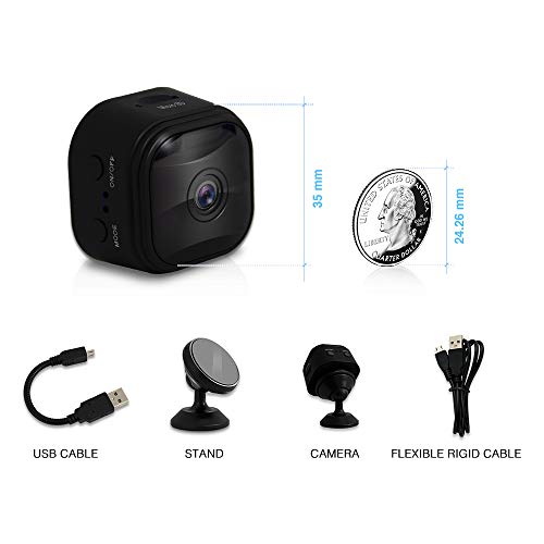 WiFi Mini Spy Camera Hidden Camera with App, with 120 Wide-Angle Lens, Video Camera, Covert Nanny Cam, Motion Detection, Night Vision, Security Surveillance Cameras (A10-Upgrade)