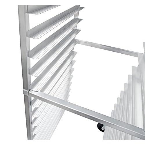 New Star Foodservice 42962 Commercial Sheet Pan Rack, Aluminum, Backsplash Top, 15-Tier, 26 x 20 x 55 inch